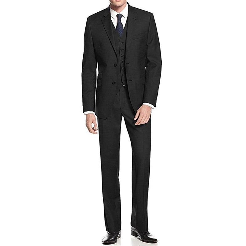 Best New As Color Mariage Garçons Costumes Pantalon De Peak Slim Black Fit Custom Man Picture Gilet Chart Made Y302 Hommes veste color Marié D'honneur Revers satin Shown 5SqRnwI