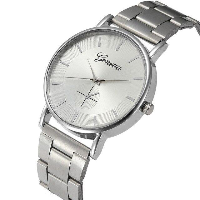 Luxury watch Women Full Stainless Steel Band Simple Style Business Quartz Wrist Watch Ladies Spoet Bracelet hour montre femme