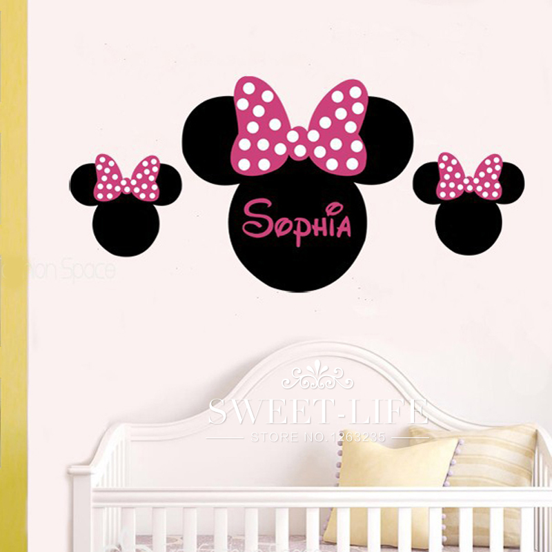 Popular ear wall buy cheap ear wall lots from china ear for Stickers mickey chambre