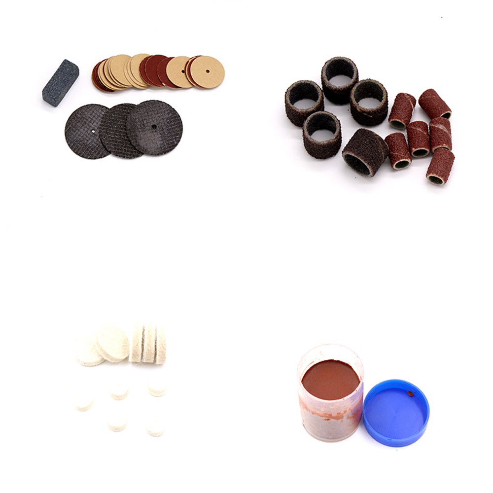 100pcs Wood Carving Polishing Head Resin Saw Paper Ring Electric Grinding Tool