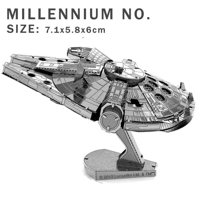 Star Wars Airplane Model 3d Metal Puzzle Diy Model Jigsaws X Wing