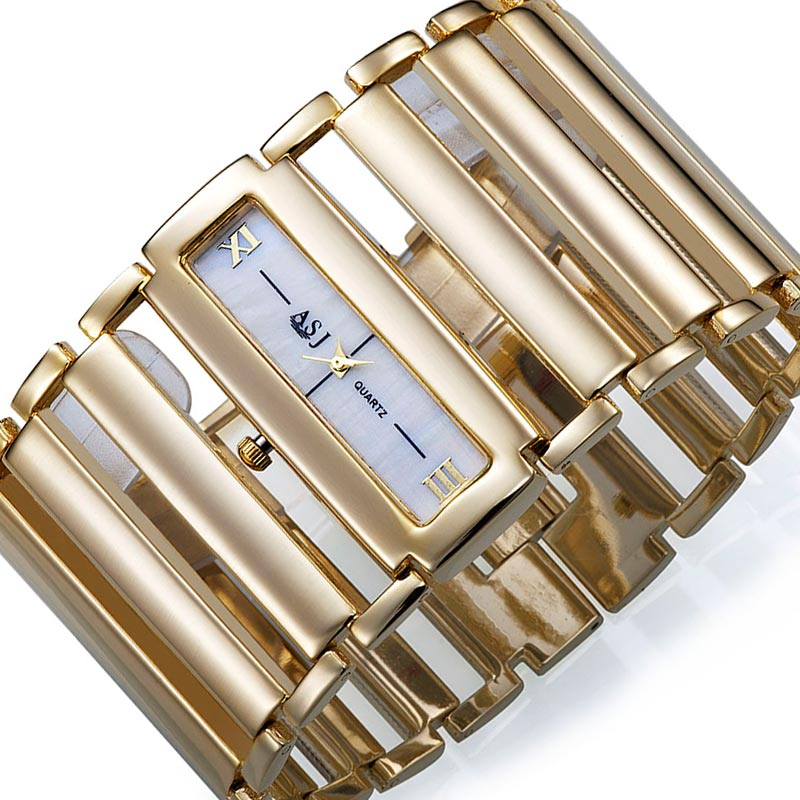 Högkvalitativ 2018 New Fashion Women Dress Klockor Ladies Gold Watch - Damklockor - Foto 2