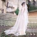 2017 New Fashion Tulle One Layer Romantic Free Style 3 M Wedding Veil No Edge No Decoration Wedding White Veils Bridal Veils