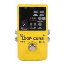 NUX Loop Core Guitar Effect Pedal Looper 99 User Memories Drum rhythm with 40 Patterns Guitarra Effects Guitar Part Accessories hand made loop electric guitar effect pedal looper true bypass 3 looper switcher guitar pedal hr 1