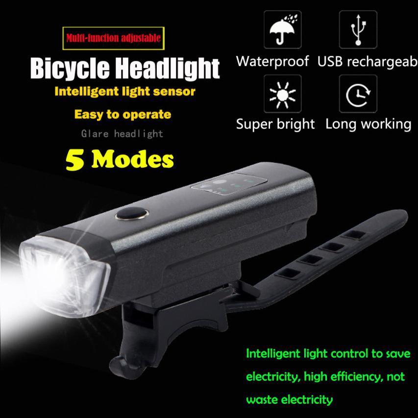 New Super Lumineux Induction Intelligente Vélo Lumière IPX4 USB Rechargeable 5 Modes Vélo Extérieur Vélo De Sport Cyclisme Accessoires Novembre 29