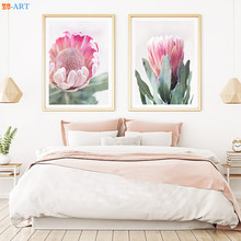 Australian Protea Pink Flower Plant Picture Flower Canvas Painting Wall Art Canvas Poster for Living Room  sc 1 st  AliExpress.com & Buy wall art australia and get free shipping on AliExpress.com