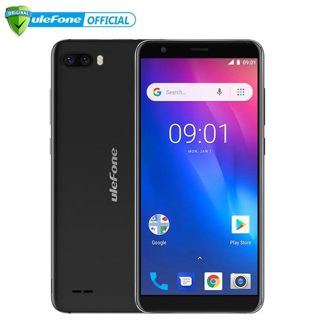 Ulefone S1 teléfono móvil Android 8,1 5,5 pulgadas 18:9 MTK6580 Quad Core 1 GB RAM 8 GB ROM 8MP + 5MP Cámara Dual trasera 3G Smartphone