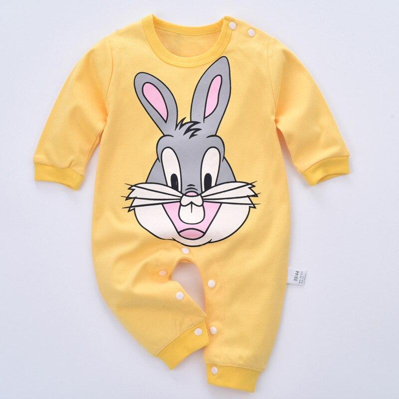 Cartoon Baby Rompers Jesień Baby Girl Clothes Cottonn Baby Boy - Odzież dla niemowląt - Zdjęcie 4