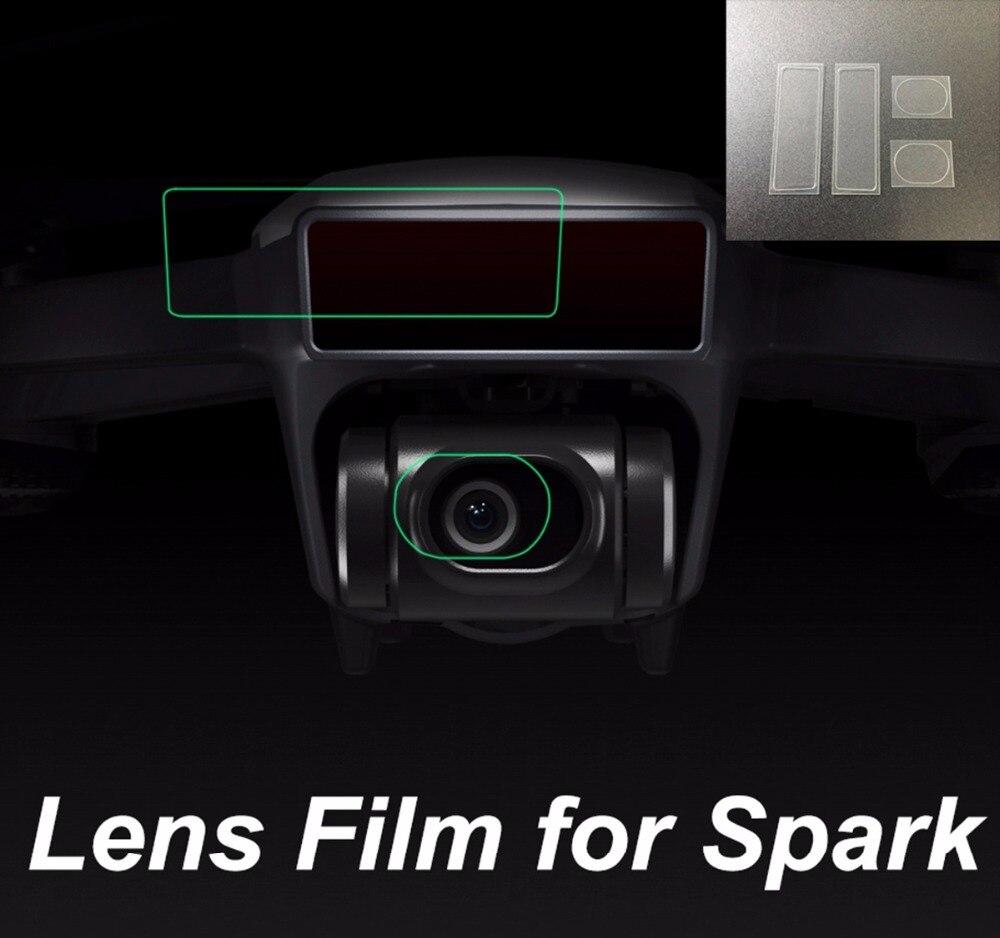 Fiberglass Protective Film Set Lens Camera Film 3D Sensor Film Scratch-Proof For DJI Spark Drone Camera Spare Parts Accessories