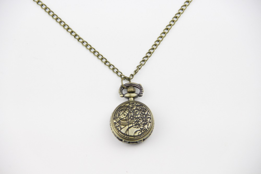 Fashion Jewelry Vintage Charm TARDIS Necklace Doctor Who Pocket Watches Necklace Gallifreyan Necklace Dia27mm ...