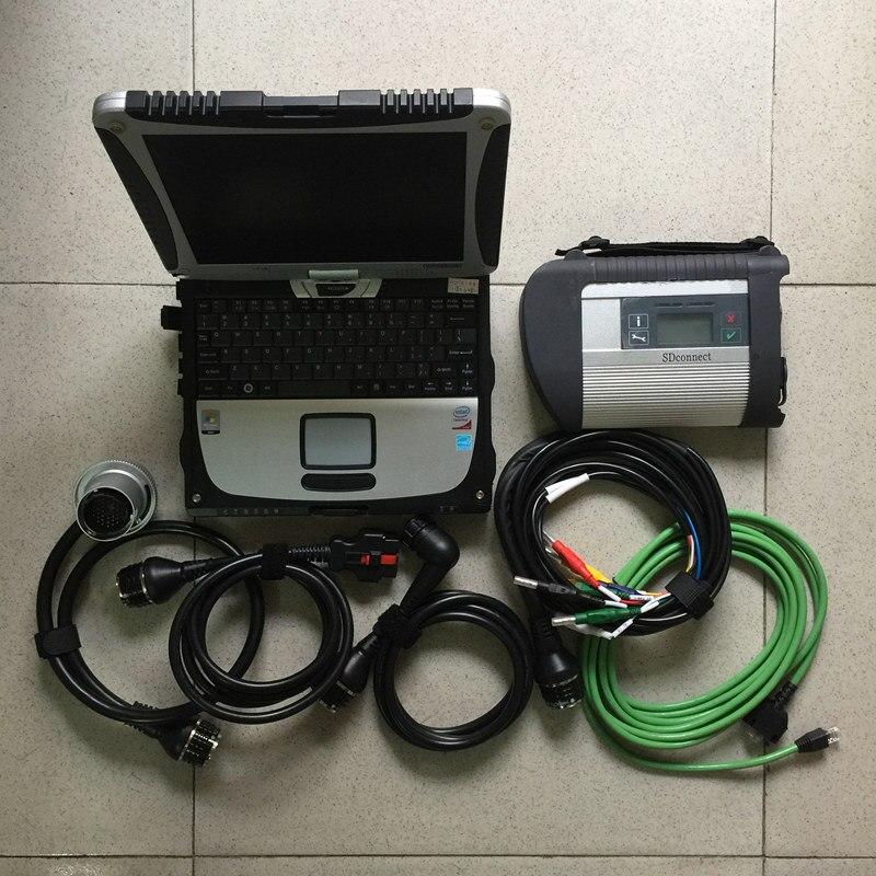 Mb star outil de diagnostic pour mb star c4 multiplexeur avec 5 câbles 320gb hdd plus récent v2019.09 avec ordinateur portable cf19 table écran tactile - 6