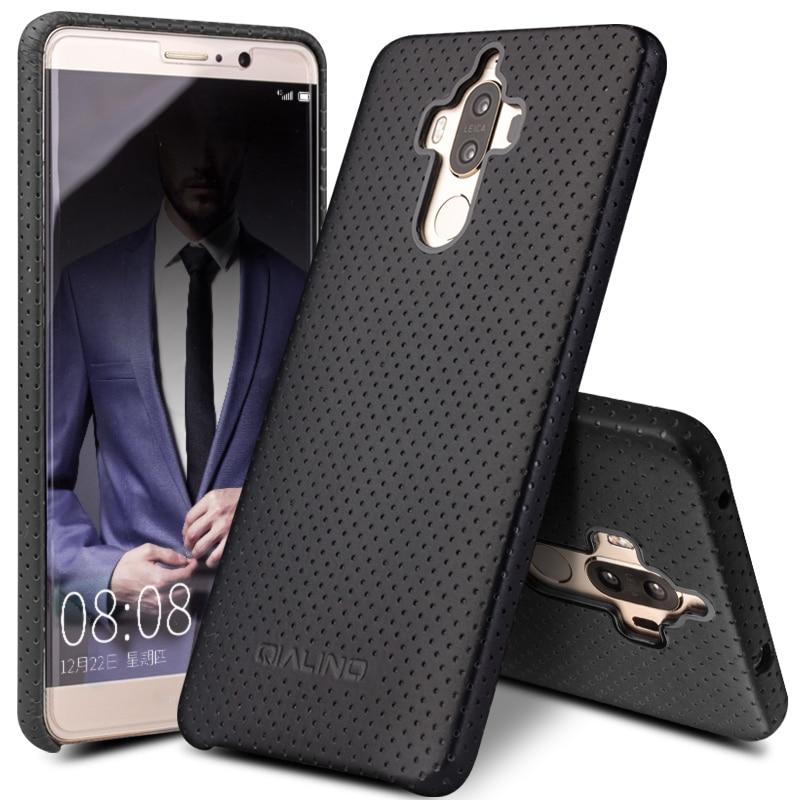 QIALINO Väska till Huawei Ascend Mate 9 Mode Skinnfodral för äkta - Reservdelar och tillbehör för mobiltelefoner