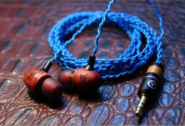 custom wooden earphone diy IE8 earphone