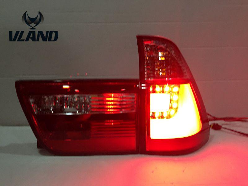 Бесплатная доставка вланд автомобильные аксессуары 2000 2001 2003 для БМВ х-5 серии E53 фара СИД самое лучшее качество с красный и прозрачный цвет!