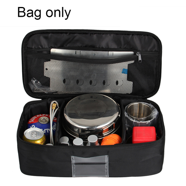Outdoor picnic package cooking utensils package gas tank anti - collision tableware bag self - driving camping package