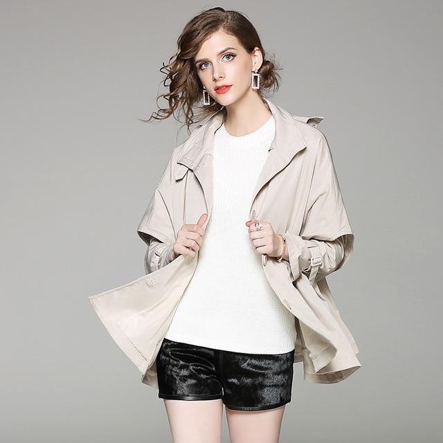 Mùa thu mùa xuân mùa đông phụ nữ thời trang Mới lỏng BF phong cách đội mũ trùm đầu dài áo gió áo khoác áo khoác nữ áo dài