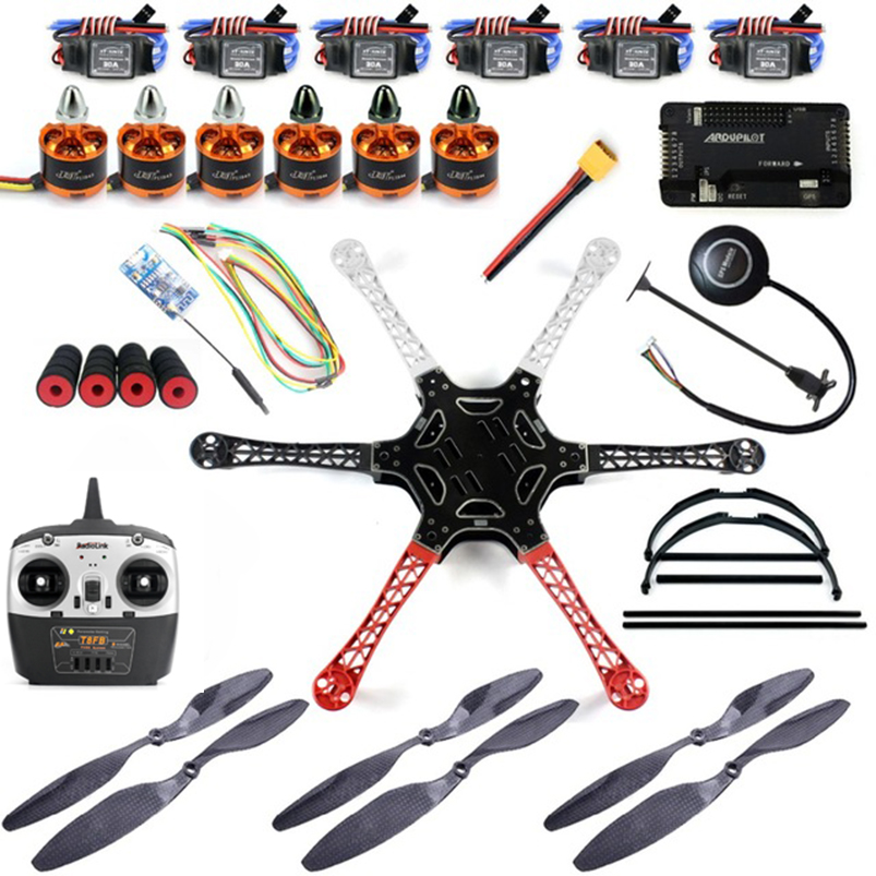 ᗖDIY Kit 2.4 GHz 550mm Marcos 8ch RC hexcopter con apm2.8 WiFi ...
