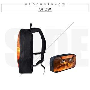 Image 3 - Çocuk okul sırt çantası Kalem Kutusu Ile At Baskı Okul Çantaları Erkek Kız Öğrenci Okul Çantası + Kalem Çantası Öğrenme kombinasyonu