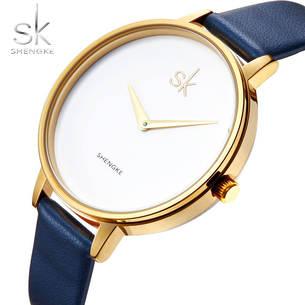 SK Watch Ultra-thin Strap Fashion Women Watches SHENGKE Brand Famous Quartz Watch Female Clock Ladies Wristwatch Montre Femme