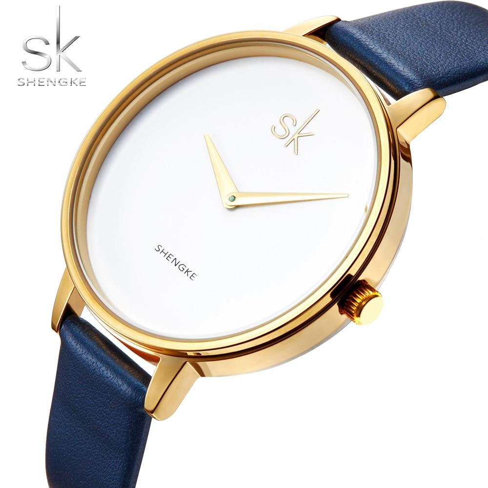 SK Watch Ultra-thin Strap Fashion Women Watches SHENGKE Brand Famous Quartz Watch Female Clock Ladies Wristwatch Montre Femme