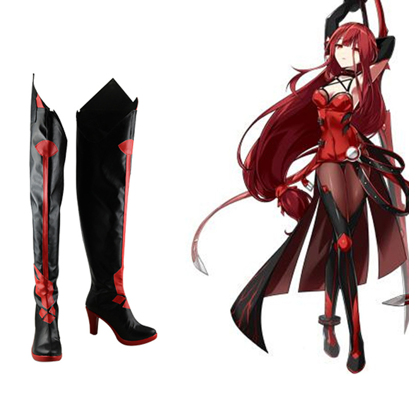 Elsword Elesis Crimson Avenger Cosplay Shoes Boots Halloween Carnival Party Cosplay Costume Accessories