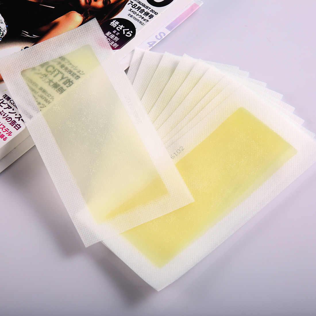 20 adet 10 levhalar Sarı Epilasyon Çift Taraflı Soğuk balmumu şerit Kağıtları Bacak Vücut Yüz Ağda Nonwoven Tüy Dökücü Sökücü