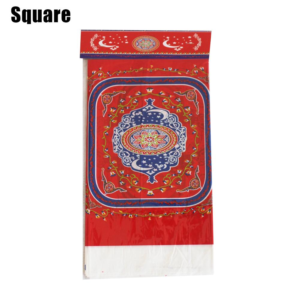 Muslim PE Tablecloth With Beautiful Patterns Printed Islam Ramadan Eid Mubarak Table Cloth Decoration 70.86x42.52 in