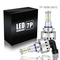 2pcs 7P COB Auto Headlight Bulbs Universal Car Headlight LED Bulbs 90W Headlight Kit Bulbs Replace Xenon Halogen Lamp 6000k