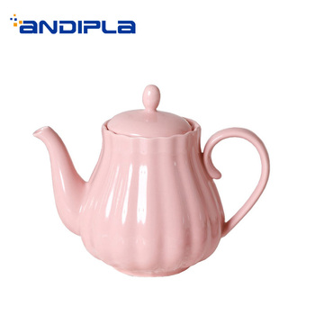 800ML Brief Ceramic Porcelain Handgrip Coffee Milk Pot Household Large Capacity Drinkware Office Afternoon Tea Pot Birthday Gift