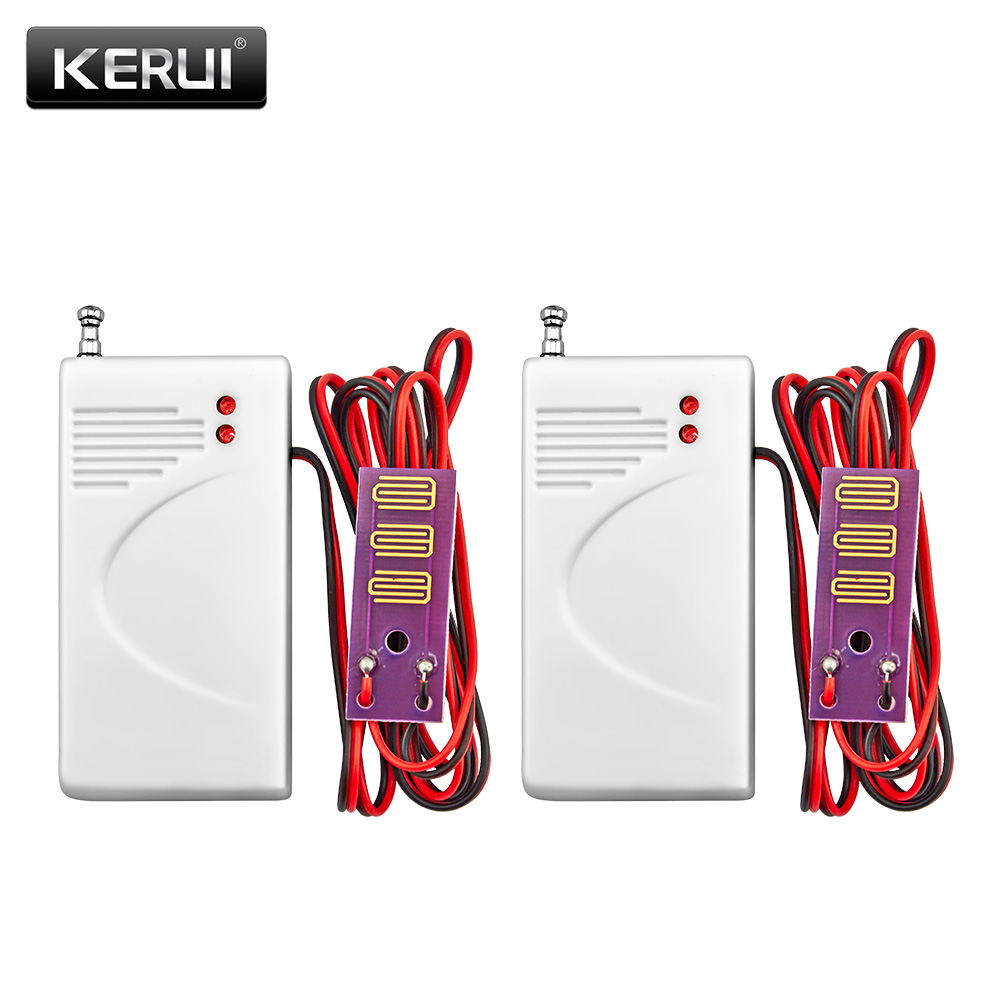 2pcs lot 433MHz Wireless Water Intrusion Detector Leak Sensor Work With GSM PSTN SMS Home House