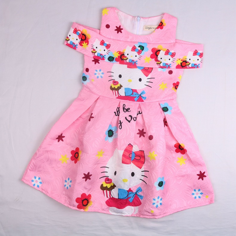 b24e96691 2018 New Summer Dress Cartoon Hello Kitty for Girls Clothes Printed Baby  Princess Kids Girl Sleeveless. sku: 32948374857