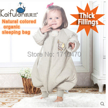 2015 new style GOTS organic cotton infant baby anti kicking foot sleeping bag Detachable slv for Winter