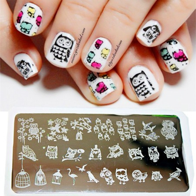 Blueness 20 Design 6*12cm Stainless Steel Stamps 3D Nail Art Print ...
