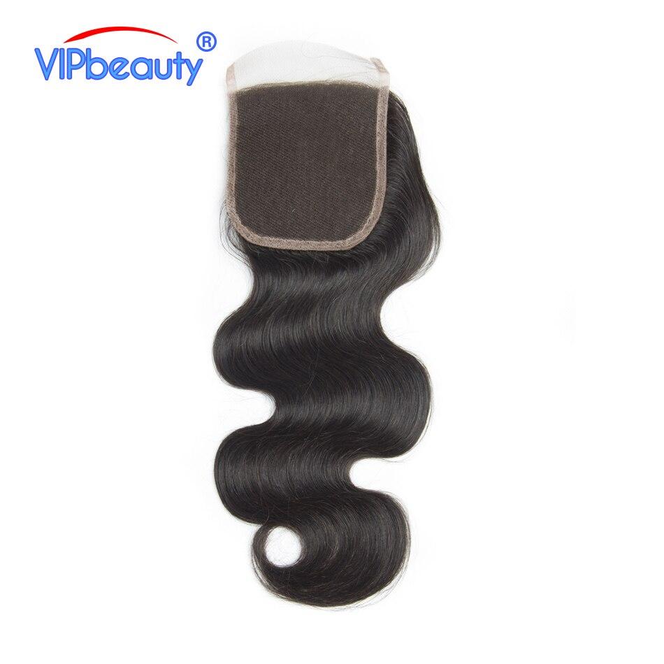 Vipbeauty перуанский Средства ухода за кожей волна Синтетическое закрытие шнурка волос с волосы младенца 100% remy Человеческие волосы 4x4 Бесплатны...