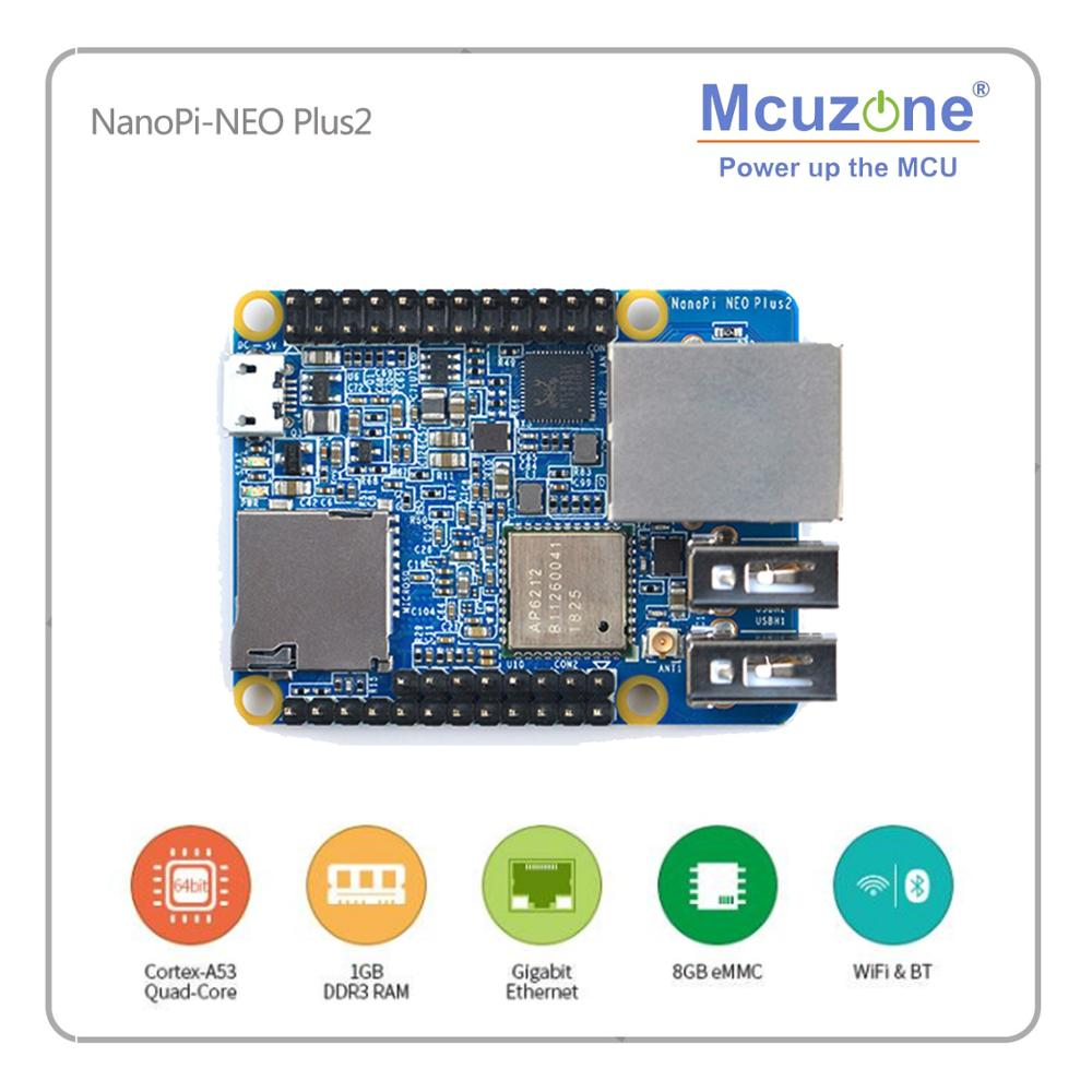 FriendlyARM NanoPi-NEO Plus2 512MB/1GB DDR3 RAM 8GB EMMC Allwinner H5 Quad-core 64-bit High-performance Cortex A53