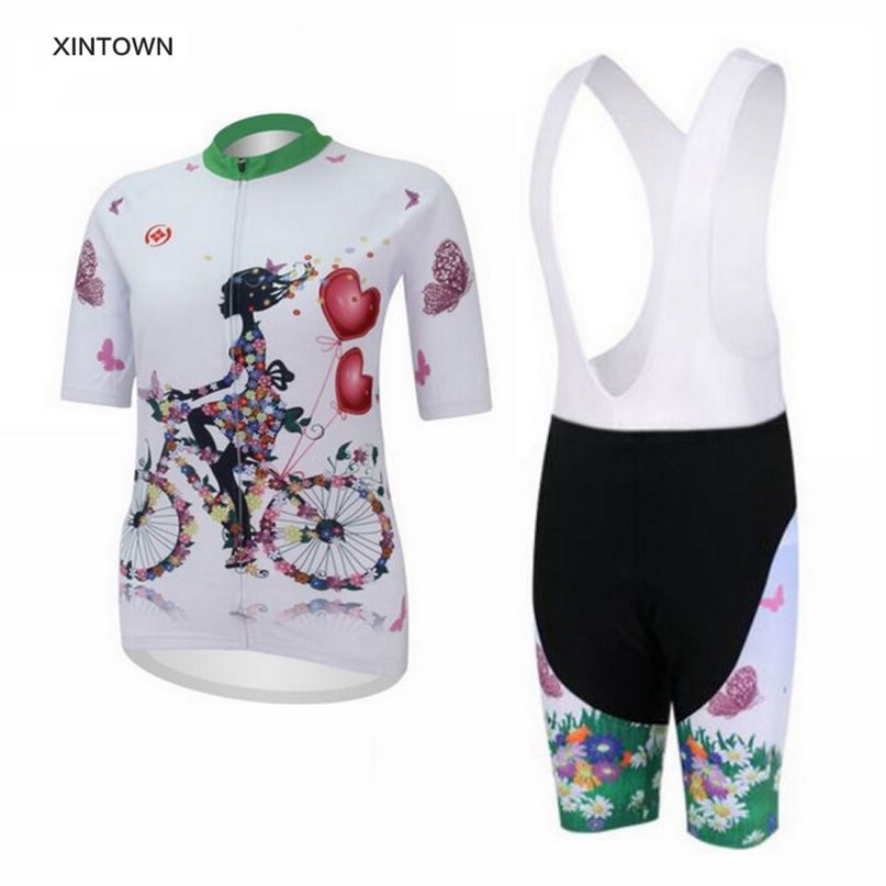 Women Bike Wear Cycling Clothing Jersey Sets With Bib Bicycle Outdoor Sportwear Cycling Sports Girls Cycling Clothing