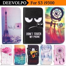 DEEVOLPO luxury style Wallet Flip Leather Case for Samsung Galaxy S3 Neo Case SIII i9300i Fashion Stand Magnetic Fundas D03Z