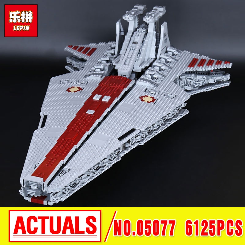 Lepin 05077 Genuine The UCS Rupblic Star Destroyer Cruiser Wars ST04 Set Building Blocks Bricks Educational birthday christmas lepin 05077 stars series war the ucs rupblic set star destroyer model cruiser st04 diy building kits blocks bricks children toys