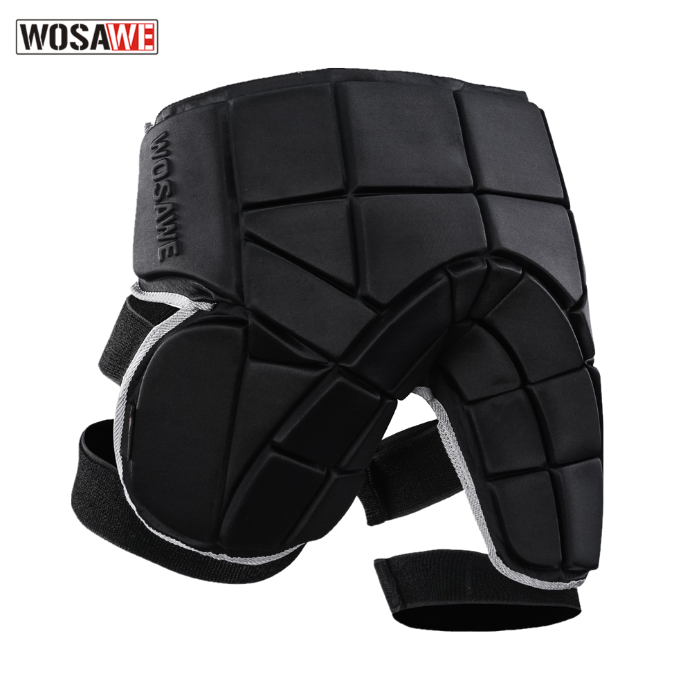 WOSAWE Removable Motorcycle Protector Butt Hip Pad Protection Motor Safety Supporter Protective Hip Pad Shorts Men Women Mat