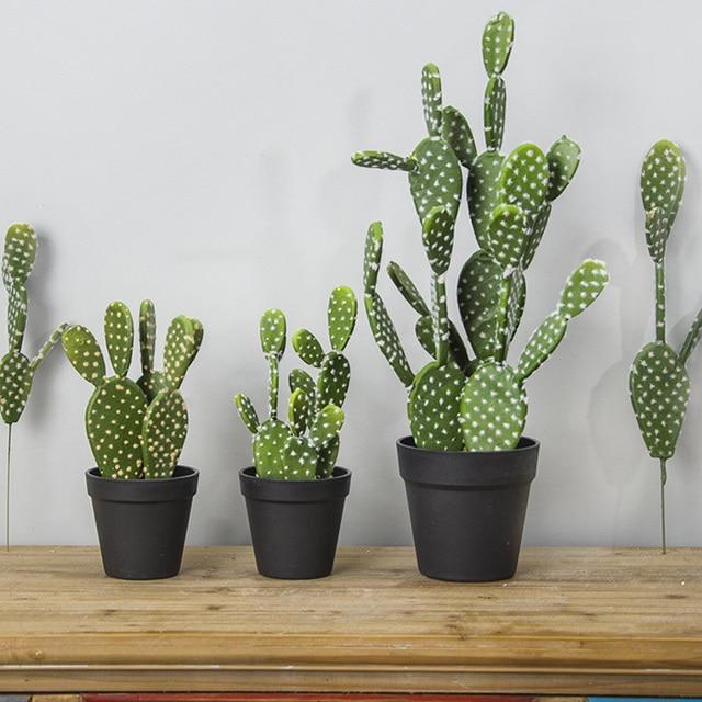 32 см/40 см кактус Искусственные суккуленты поддельные пластиковые Opuntia искусственный зеленый пустыни растения большой цветок композиция домашний садовый декор