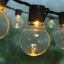Açık led dize ışık 20M 15M 10M 5M Noel çelenk AC 220 V 240 v AB Tak bahçe ışıkları dekorasyon ampul