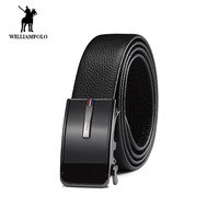 Williampolo Men belt New fashion automatic buckle business man belt waist calf cowhide 18213