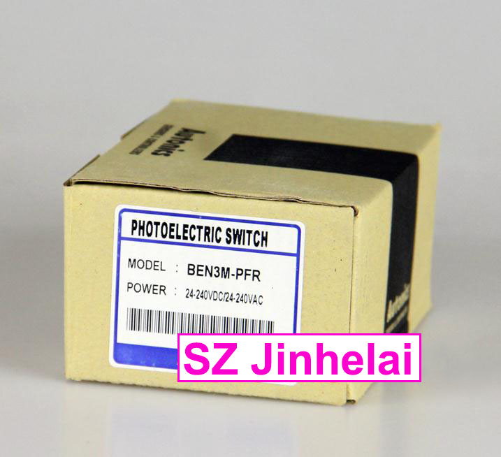 New and original  BEN3M-PFR   AUTONICS  PHOTOELECTRIC SWITCH   24-240VDC/24-240VAC original otto nicks autonics photoelectric switch ben3m pfr
