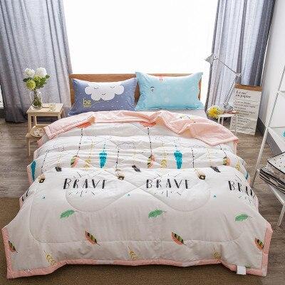 Frauen Yoga Muster Decke Tröster Bett Abdeckung Quilten Sommer Quilt ...