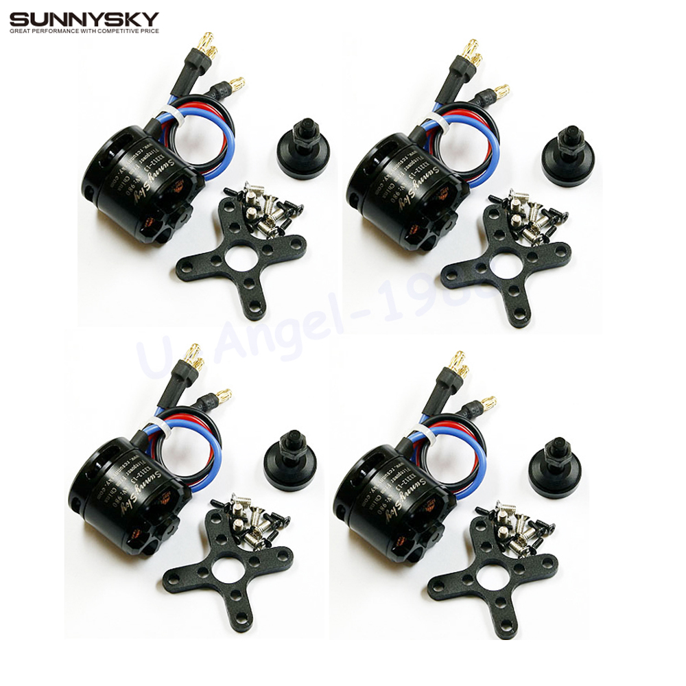цены 4pcs/lot 100% Original Sunnysky X2212 980KV 300W Brushless Motor For Multi rotor Quadcopter Hexa copter