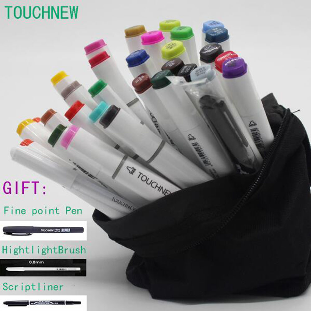 six generations two-headed alcohol oily mark brush pen hand-painted 40 48 80 sketch manga TOUCHNEW art supplies 80 set touchnew two headed alcohol oily mark pen art supplies students manga hand painted art dual tip marker pen set rich gift