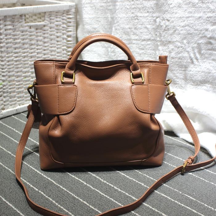 Fashion autumn and winter soft women's soft leather handbag messenger bag genuine leather elegant all-match women's handbag