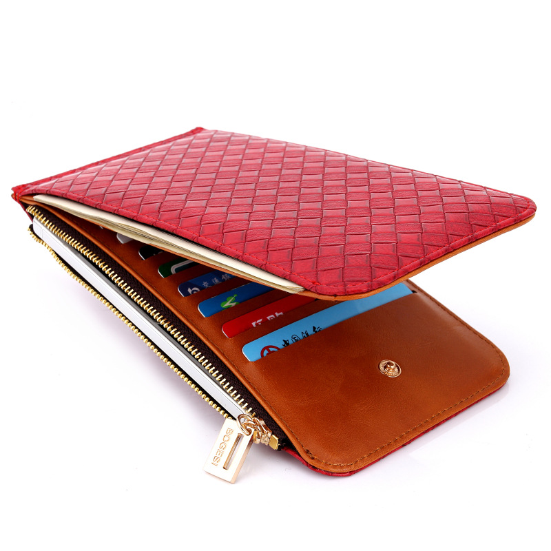 Ny BOGESI Wallets Card pack WOMEN'S Pu lang sektion Punge Support Drop shipping