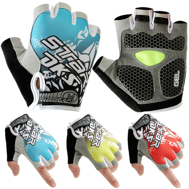 Men Women s Sports 3D Gel Padded Anti Slip Gloves Gym font b Fitness b font