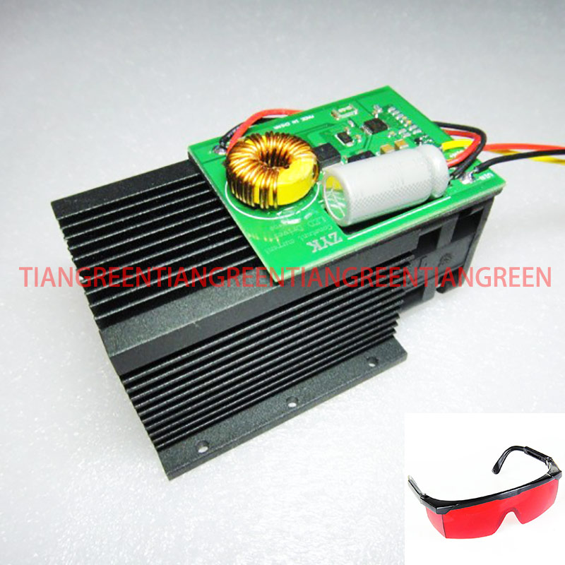 15W 15000mW High power laser engraving Laser module Blue Light 450nm laser head with Glasses